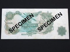 One Pound Green Banknote - J.B.Page