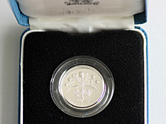 1984 Silver Proof 1 pound coin
