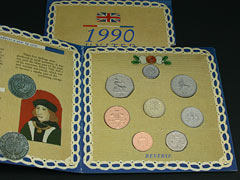 Royal Mint 1990 Uncirculated Coin Set