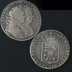 1689 William and Mary Half Crown