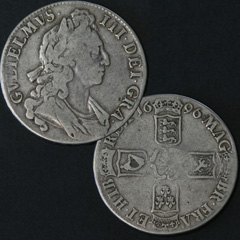 1696 William 3rd Crown