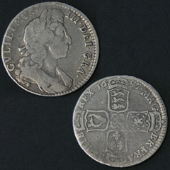 1697 William 3rd Half Crown