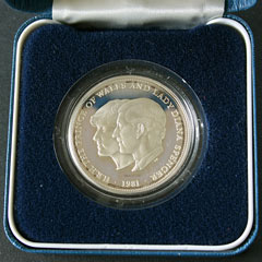 1981 Royal Wedding Silver Proof Crown