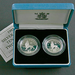 1992 10 Pences Silver Proof Coins