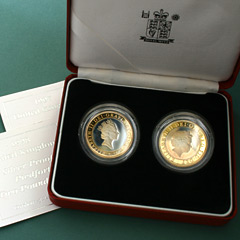 1997 and 1998 2 Pound Piedfort Proof Coin Double Set