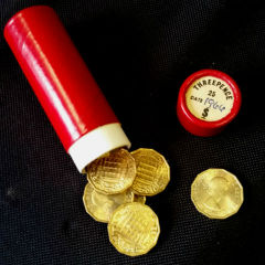 Tube of brass threepenny 3d bits