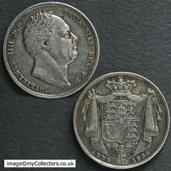 1836 William IV Halfcrown
