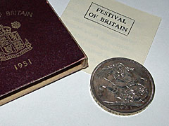 1951 Festival of Britain Crown GeoVI Red Box