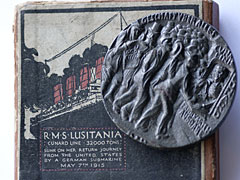 Lusitania medallion on box
