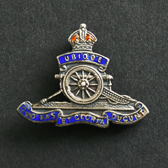 Royal Artillery Sweetheart Badge George Crown