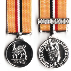 Iraq 2003 Miniature Medal with bar