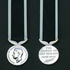New Zealand War Service Miniature Medal