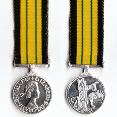 Miniature Africa GSM medal