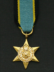 Air Crew Europe Star Miniature Medal