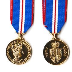QE2 Golden Jubilee Miniature Medal