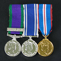 3 Miniature Medal Mounted Group Image 2