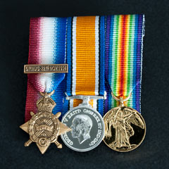 WW1 1914 Mons Star trio Court mounted Medals