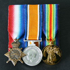 WW1 Trio - Court Mounted Miniature Medals
