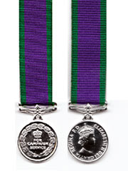 Miniature medal General Service Medal 1962 on, QE2