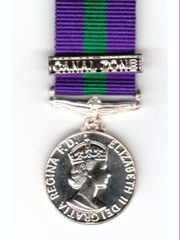 GSM miniature medal with Canal Zone bar