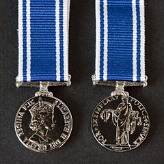 Police Long Service Good Conduct Miniature Medal