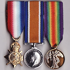 WW1 1914-15 trio miniature medal group