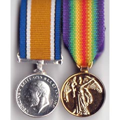WW1 War and Victory Medal Pair